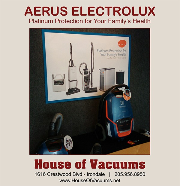 Aerus Electrolux Vacuum Cleaners available at House of Vacuums Irondale greater Birmingham Alabama