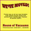 House of Vacuums New Location: 1700 6th Avenue South, Irondale, Alabama 35210 cute yellow house with the red roof behind Jack's across from Hamburger Heaven