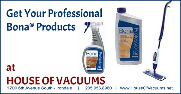 Get Your Professional Bona® Products at House of Vacuums  |  Looking for a great product to clean your wood floors and other hard surface flooring?